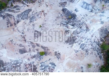 Aerial View Photo Of Dry Land Landscape Nature Texture Top Down High Angle View.