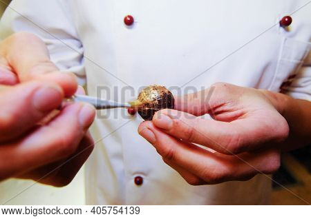Praline Manufacturing At A Confectionery