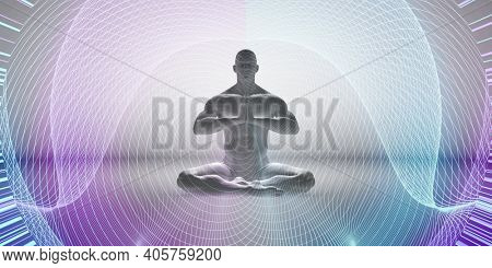 Spiritual Realm and Higher Level of Enlightenment Zen State 3d Render