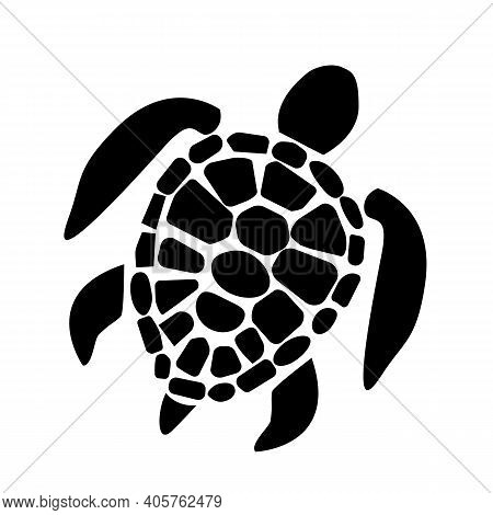 Sea Turtle Icon On White Background. Sea Turtle Symbol. Turtle Sign. Flat Style.