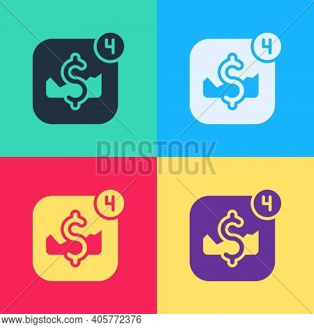 Pop Art Mobile Stock Trading Concept Icon Isolated On Color Background. Online Trading, Stock Market