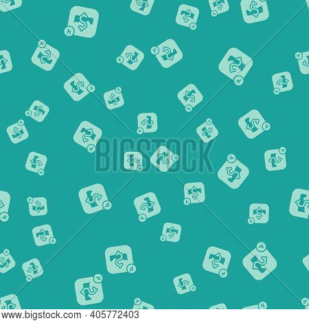 Green Mobile Stock Trading Concept Icon Isolated Seamless Pattern On Green Background. Online Tradin