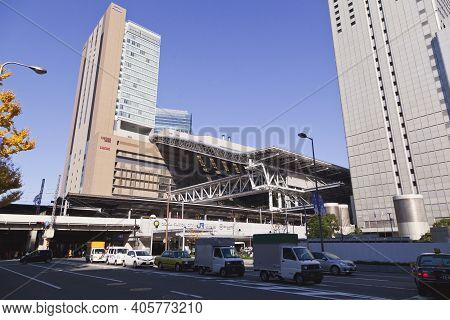 Osaka,japan - April 21 : Jr Osaka Station On April 21,2015 In Osaka, Japan. It Is A Major Railway St