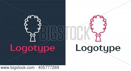 Logotype Line Sauna Broom Icon Isolated On White Background. Broom From Birch Twigs, Branches For Ru