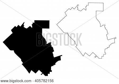 Temecula City, California(united States Cities, United States Of America, Usa City) Map Vector Illus