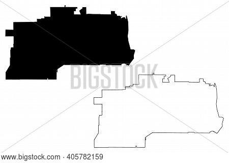 West Jordan City, Utah (united States Cities, United States Of America, Usa City) Map Vector Illustr