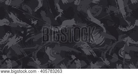 Urban Camouflage, Modern Fashion Design. Camo Military Protective. Army Uniform. Grunge Pattern. Bla