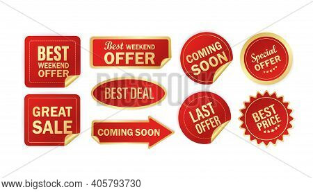 Modern Red Special Sale, Best And Special Offer And Special Discount Stickers, Great Design For Any