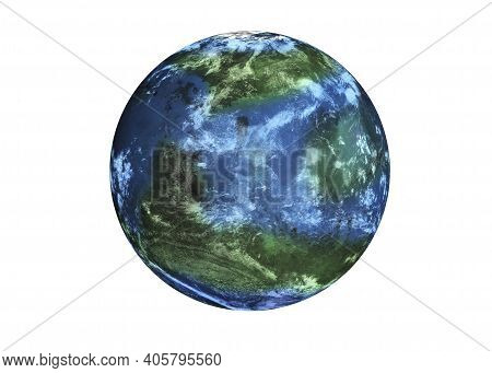 Terraformed Habitable Fiction Mars Planet Of Solar System In Outer Space. Life On Mars Concept. 3d R