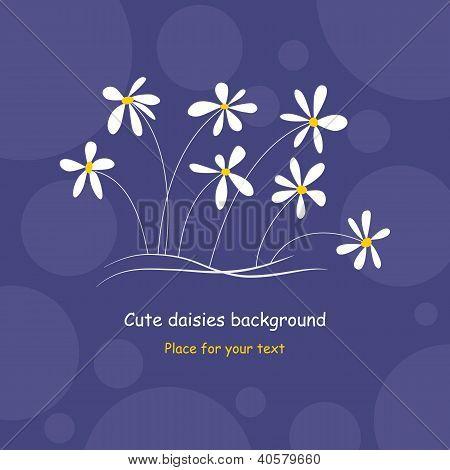Cute Daisies Background