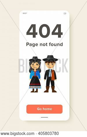 Vector Icon Of Argentine Couple In National Costume. National Dress, Argentine People, Argentine Cul