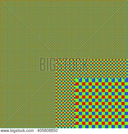 Rgb Screen Net. Abstract Layered Background. Vector Illustration