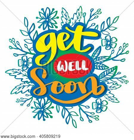 Get Well Soon Greeting Card. Hand Lettering.