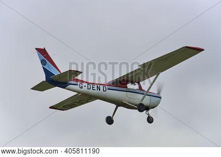 Co. Dublin, Ireland - September 20, 2020: Aircraft G-den D Landing In Newcastle Aerodrome, Leamore U