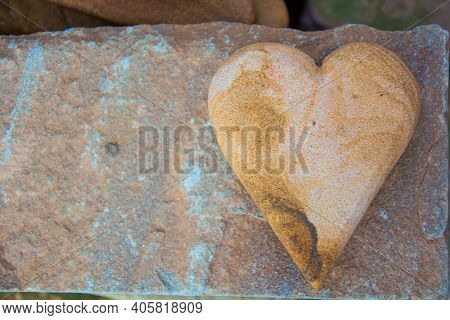 Stone Heart Is On A Stone , Which , This Stone Makes Of Laterite Stone.