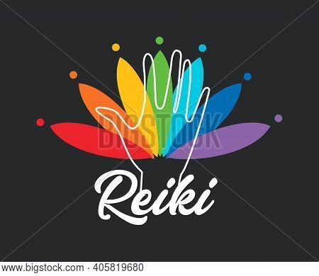 Sacred Geometry. Reiki Symbol. Reiki Vector Logo. Spiritual Practice.