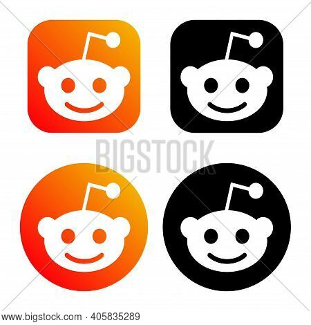 Humpolec, Czech Republic - November 08, 2020: Reddit - Button For Social Media, Phone Icon Symbol Lo