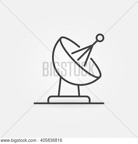 Satellite Dish Vector Concept Icon Or Sign In Outline Style