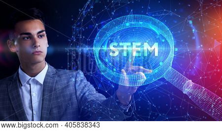 Science, Technology, Engineering And Math. Stem Concept. Business, Technology, Internet And Network