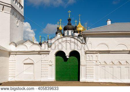 Fortress Wall Of Epiphany Convent Of St. Anastasia (bogoyavlensko-anastasin Monastery). Kostroma Tow