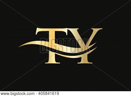 Initial Ty Letter Business Logo Design Vector Template With Minimal And Modern Trendy