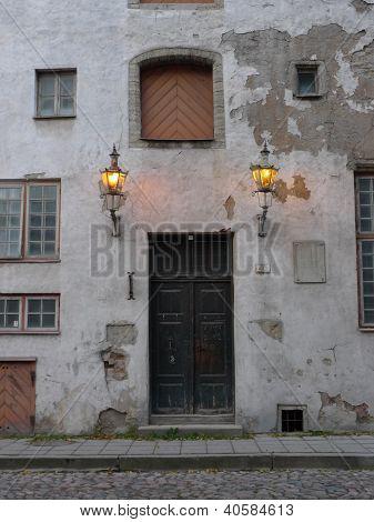 front door of medieval building