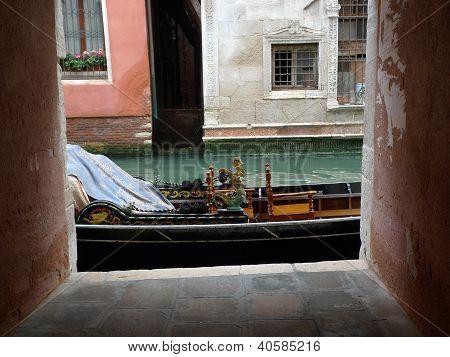 gondola in canal