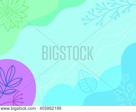 Artistic Vector Wallpaper. Abstract Backgriund With Color Hand Drawn Geometric Shapes. Sketchy Style