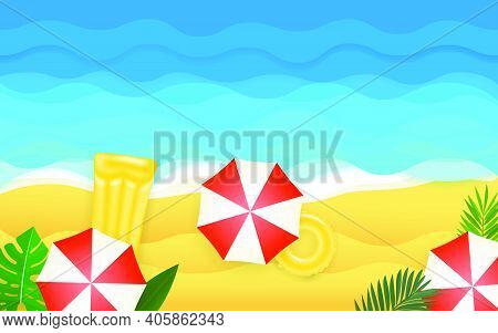 Seaside Vector Illustration. Tropical Vector Illustration. Vector Illustration
