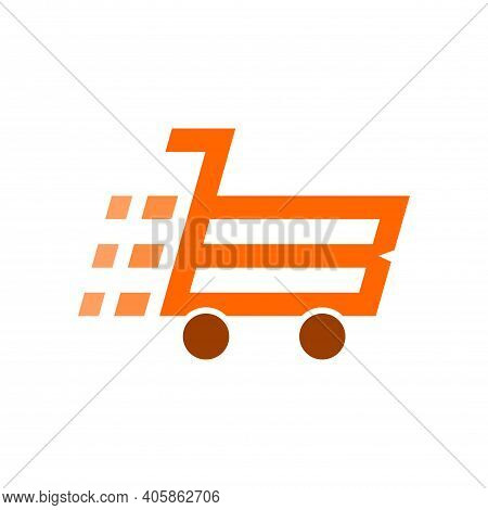 Fast Cart Sopping Abstract Logo Letter B Icon Concept Graphic Design