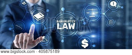 Bankruptcy Law Concept. Insolvency Law. Company Has Problems.