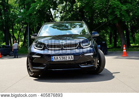 Kyiv - May 26: The Test-drive On Bmw I3s Electric Car On Plug-in Ukraine 2019 - Electric Vehicles Tr
