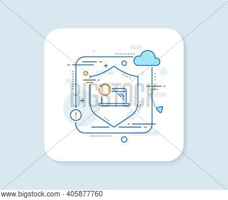 Recovery Laptop Line Icon. Abstract Vector Button. Backup Data Sign. Restore Smartphone Information