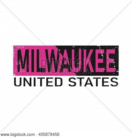 Milwaukee. Colorful Typography Text Banner. Vector The Word Milwaukee Design