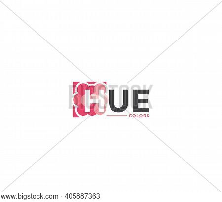 Hue Colors Company Business Modern Name Concept