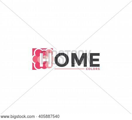 Home Colors Company Business Modern Name Concept