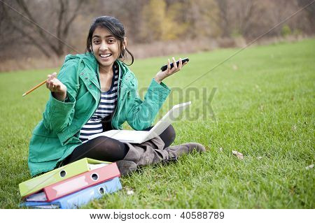 Indian Student In Outdoor