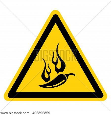 Spicy Symbol Sign, Vector Illustration, Isolate On White Background Label. Eps10