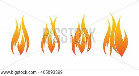 Fire Flames Vector Set. Fire. Burn. Hot. Fire Icon. Fire Symbol. Fire Symbol. The Fire Is Burning. F