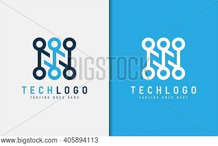Abstract Technology Logo Design. Modern Colorful Futuristic Line Symbol Design, Usable For Business,