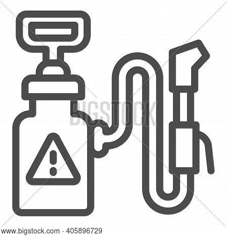 Insect Poison Line Icon, Pest Control Concept, Pest Control Poison Sign On White Background, Spray I