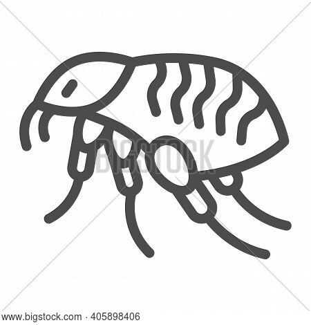 Bloodsucker Line Icon, Pest Control Concept, Louse Sign On White Background, Insect Parasites Icon I