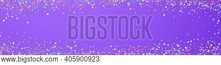 Festive Nice Confetti. Celebration Stars. Colorful