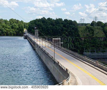 The Bridge Over Bull Shoals Dam In Lake View Arkansas