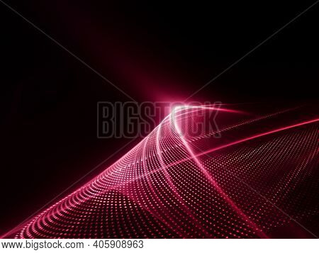 Abstract red and black background. Detailed generative fractal graphics.