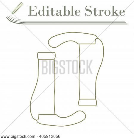 Bike Grips Icon. Editable Stroke Simple Design. Vector Illustration.