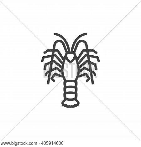 Langoustine Shrimp Line Icon. Linear Style Sign For Mobile Concept And Web Design. Prawn, Shrimp Out