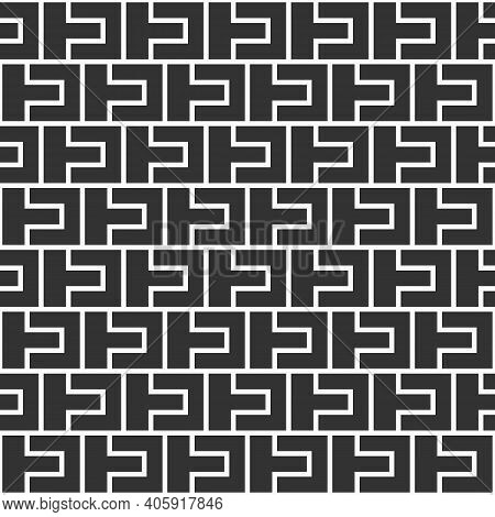 Abstract Seamless Pattern. Modern Stylish Texture. Regularly Repeating Geometric Tiles. Bold Rectang