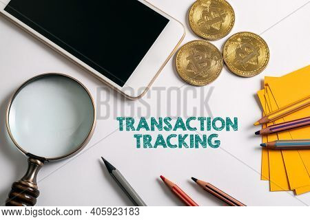 Transaction Tracking. Banking Transactions, Purchase And Sale Of Cryptocurrencies. Office Supplies O