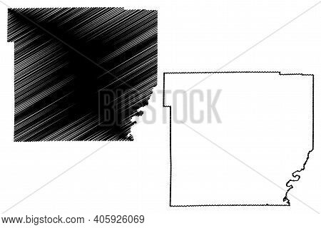 Wyoming County, New York State (u.s. County, United States Of America, Usa, U.s., Us) Map Vector Ill